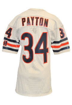 684e19dc9bb PriceRealized - Mid 1980s Walter Payton Chicago Bears Game-Used Road Jersey