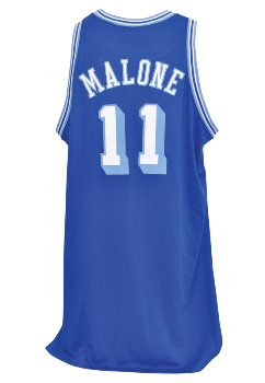 5df73f4a7 PriceRealized - 2003-04 Karl Malone Los Angeles Lakers TBTC Game-Used Jersey
