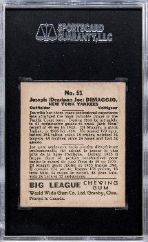 pricerealized 1936 v355 world wide gum 51 joe dimaggio sgc 55 vgex 45