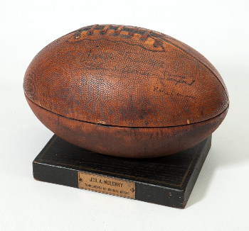 1a3724a6441 PriceRealized - C.1925 FOOTBALL HUMIDOR SIGNED   INSCRIBED BY GLENN