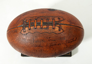 5b5f90d1d680a PriceRealized - C.1925 FOOTBALL HUMIDOR SIGNED & INSCRIBED BY GLENN ...